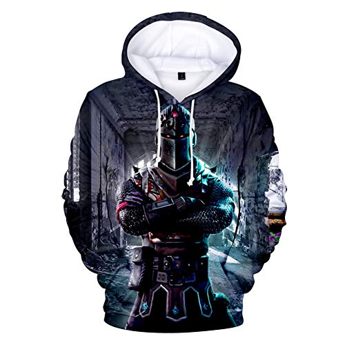 Fabby Unisex 3D Printed Hoodies Sweatshirt with Pockets (Small, Black Knight)]()