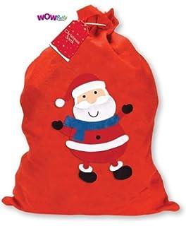1 x large father christmas santa sack red stocking gift presents xmas - Large Christmas Stocking