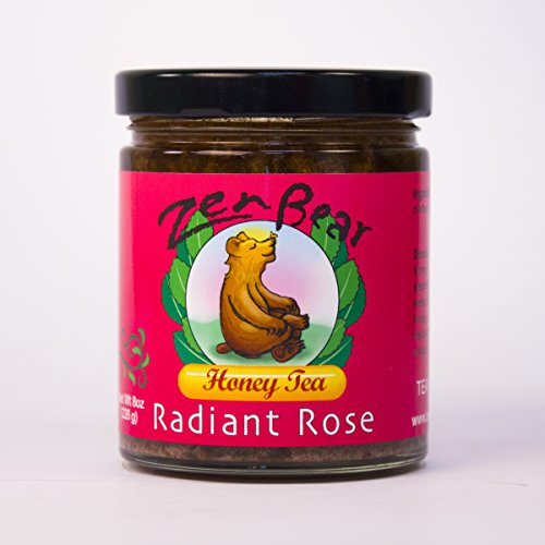 Radiant Rose | Herbal Infused Honey Tea with Wildflower Honey, Green Tea, Cranberry, Hawthorn Berry, Rose Hips, Ginger | a gentle blast of antioxidant goodness. | 8 OZ jar