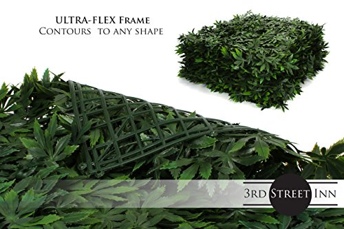 Artificial Marijuana Pot Leaf Hedge - Fake Weed Plant - Smoke Shop Decor - Sound Diffuser Marijuana Wall Art - Topiary Cannabis Greenery Panels (12, Cannabis) by Milltown Merchants (Image #4)