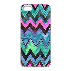 Custom AXL375966 Case, Personalized Phone Case For Iphone 5,5S Cover Case w/ Chevron Waves Pattern