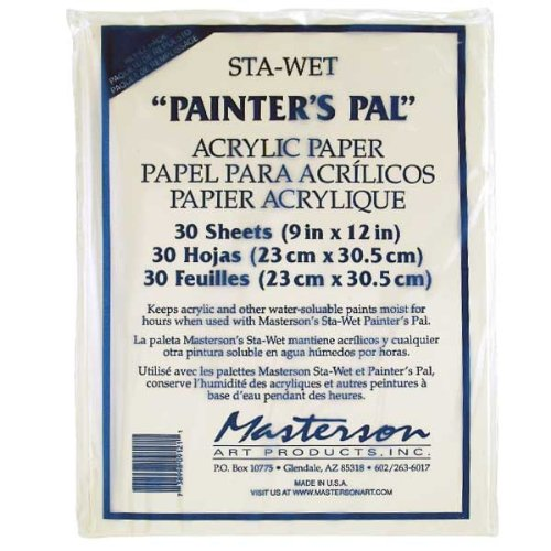 (Masterson Sta-Wet Painters Pal Palette Painters Pal acrylic paper pack of 30 9 in. x 12 in. )
