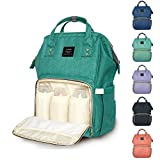 Kyпить Diaper Backpack, Large Capacity Baby Bag, Multi-Function Travel Backpack Nappy Bags, Nursing Bag, Fashion Mummy, Roomy Waterproof for Baby Care, Stylish and Durable by Jewelvwatchro (Green) на Amazon.com