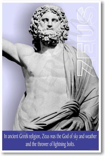 Ancient Greece: Greek Mythology - Zeus - Classroom Poster