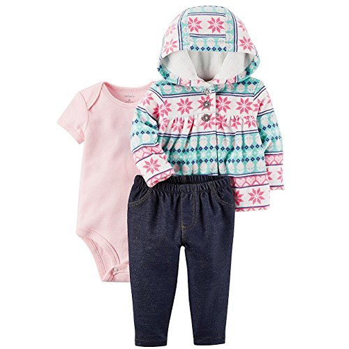 Carter's Baby Girls' 3-24 Months 3 Piece Little Jacket Set 3 Months