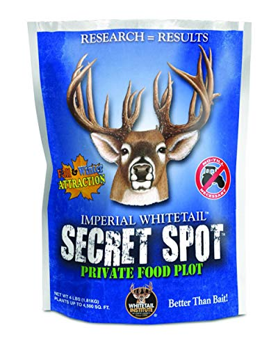Whitetail Institute Imperial Whitetail Secret SPOT Private Food Plot Seed, 4-Pound Bag (Covers up to 4,500 Square Feet)