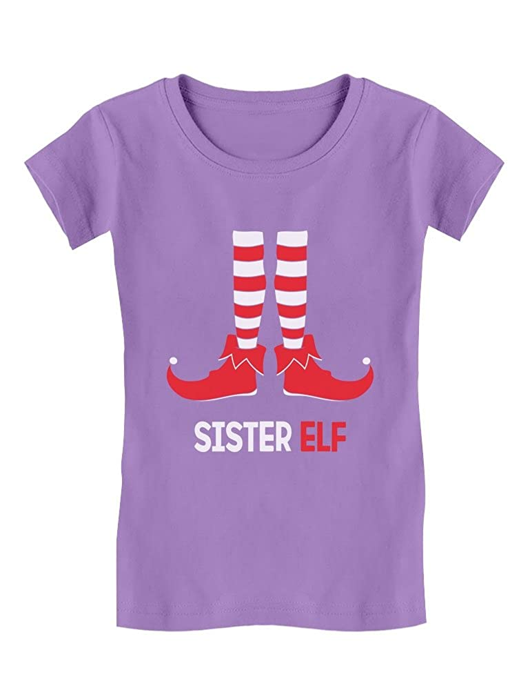 Sister Elf Cute Santa's Elf Toddler/Kids Girls' Fitted T-Shirt 2T Lavender GMPl0r3gw5lrw59to