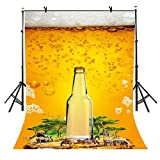 VVM Backdrop Creative Theme Rave Party Backdrop Carnival Ice Beer Photography Backdrop for Pictures Party Accessory 5x7Ft VV1032