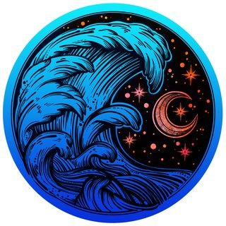 Next Innovations - Tidal Wave Wall Art - 24-inch Round