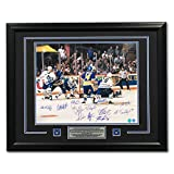 1993 Toronto Maple Leafs 12 Player Team Signed Gilmour OT Goal 31x25 Frame