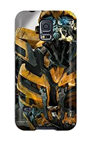 Flexible Tpu Back Case Cover For Galaxy S5 - Bumblebee In Transformers 3