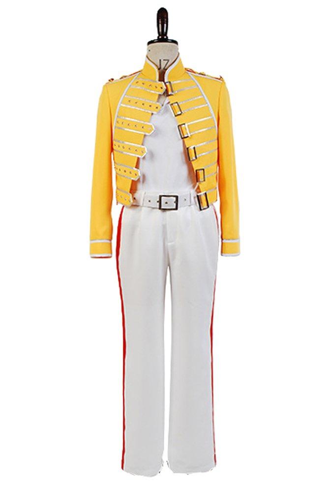 Queen Lead Vocals Frotdie Mercury Gelb Jacket Costume Cosplay Herren XL Gelb L