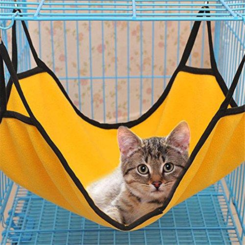 WMSTUDIO Cute Pet Cat Kitten Animal Hammock Sleep Bed Bunk Sleep Pad Hanging Pet Cage for Summer Winter (Furniture Outdoor Crate)