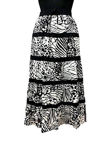 A Women's Skirt Cotton Cotton Breeze Line Black 64tqwzxw5