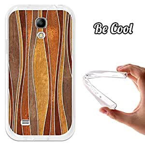 BeCool® - Funda Gel Flexible Samsung Galaxy S4 mini Olas Madera Abstractos Carcasa Case Silicona TPU Suave