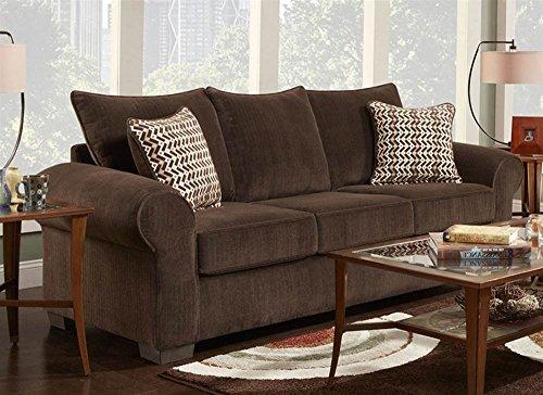 Chelsea Home Queen Sleeper Sofa in Brown
