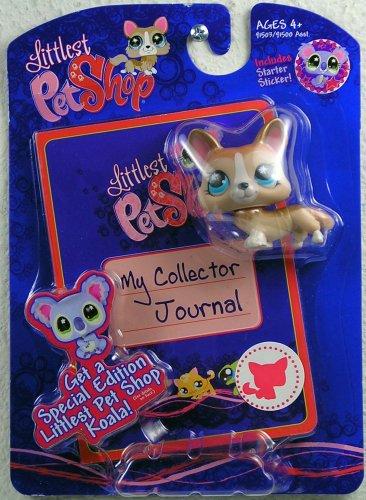 Littlest Pet Shop Activity Set My Collector Journal Brown Dog