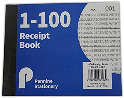 Pages 1-80 With 2 Sheets Carbon Paper Reciept NEW.. Duplicate Receipt Book