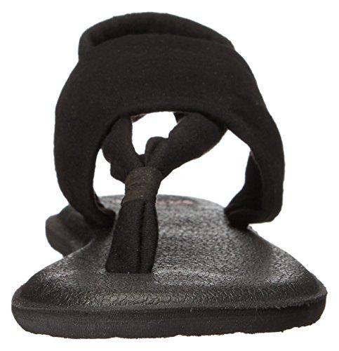 Sanuk Kids Yoga Sling Burst Flip Flop (Toddler/Little Kid/Big Kid) Black