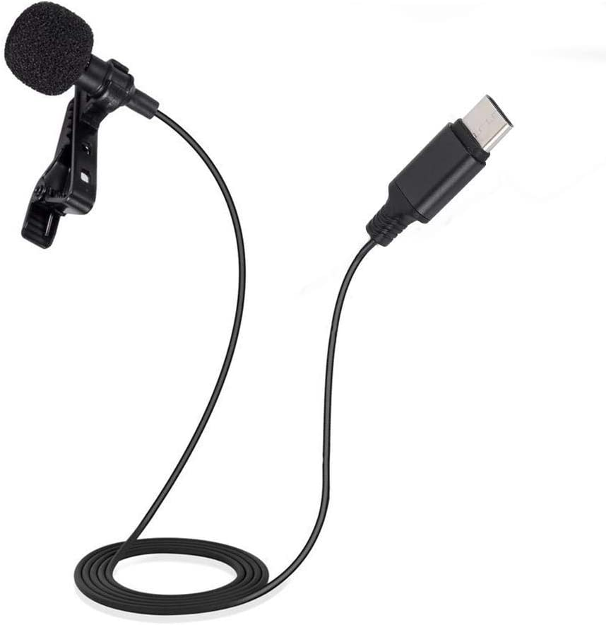 for Samsung S8 Huawei P10//20//30 Mini Clip On Mic Type-C Audio Interface Lavalier Microphone Omni-Directional 360/° Sound Collecting for Android Phone Glory; Xiaomi 8