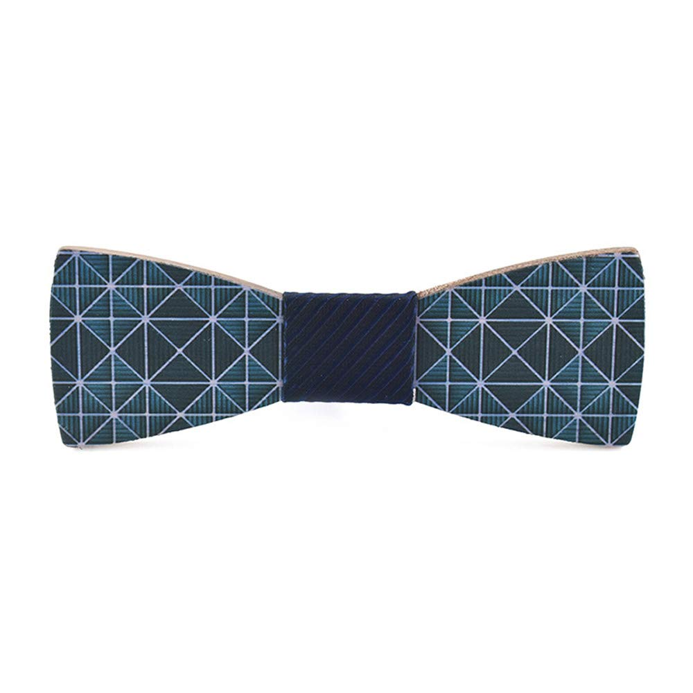 VAXT Engineer Mens Womens Wooden Wooden Bow Tie Inkjet Creative Wooden Wedding Casual England Square Wood