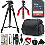 "Pro Accessories Bundle Kit for Digital & DSLR Cameras Includes: 32GB SD Memory Card, Premium Case / Bag, 72"" Tripod, Flexible Tripod, Card Reader, Cleaning Tool Kit + HeroFiber Microfiber Cloth"