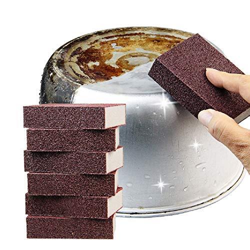 (Adpartner 6PCS Magic Emery Sponge Brush Kitchen Carborundum Nano Sponges Set Eraser Cleaner Rust Home Cleaning Tool)
