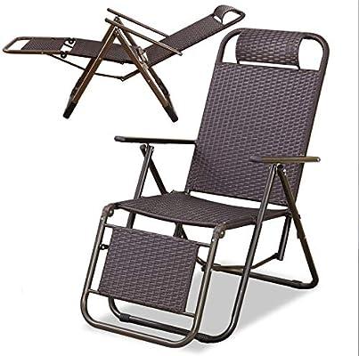 YOPEEN Tumbonas   Patio al Aire Libre Chaise Lounge Chair Plegable Recline Medium, C, 2 Pack: Amazon.es: Jardín