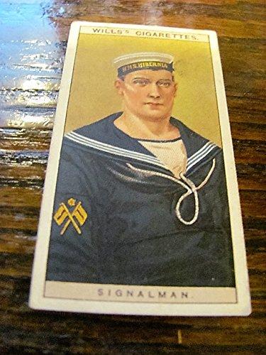 Advertising Cigarette - vintage Will's cigarettes advertising premium card, no 46, Signalman