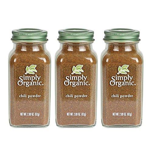 Simply Organic Chili Powder | Certified Organic | 2.89 oz. (3 Pack)