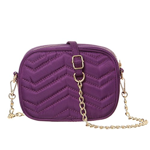Crossbody Metal Bags Strap Purple MINICAT Smartphone Cell Small With Nylon Wallet Phone Purse Women qaffpt