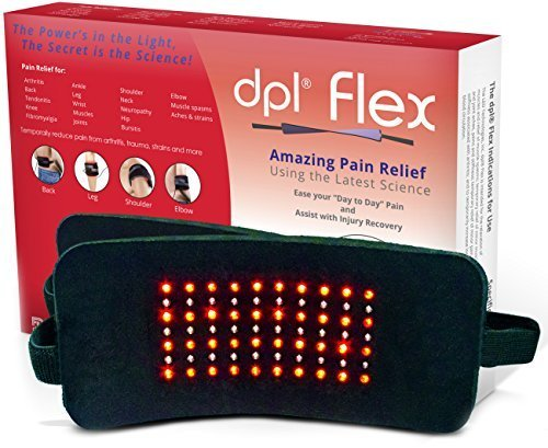 DPL FlexPad Pain Relief System for Back and Knee Pain (880nm Infrared and 660nm Red LED) by LED Technologies