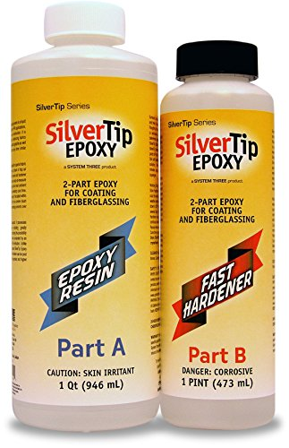 System Three 0900K42 Silvertip Epoxy Kit with Fast Hardener, 1.5 Quarts, Clear