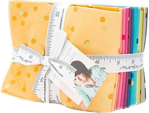 Ombre Confetti Metallic 20 Fat Quarter Bundle by V and Co. for Moda Fabrics, 10807AB