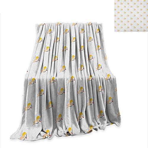 (Luckyee Angel Super Soft Lightweight Blanket Cupid Pattern Amour Love Arrow Mythic Romance Kids Baby Angels Children 50