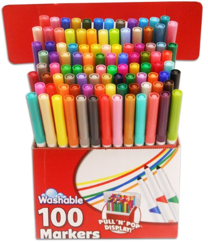RoseArt SuperTip Assorted Color Washable Markers 100-Pack by Rose Art (Image #2)