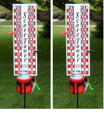 ScoreTower - Scoreboard & Drinkholder for Bocce Ball (Twо Расk)