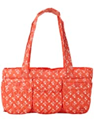 Lug Streetcar Short Tote Orchard Print, Peach Coral, One Size