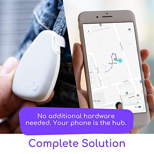 Jiobit - Smallest Real-Time Location Tracker for Kids | Highly Secure, KidSAFE Approved, Lightweight, Durable, Live Notifications | Precise Location Reporting Utilizes Cellular, BT, Wifi and GPS