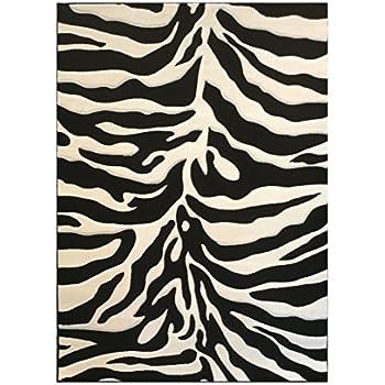 Amazon Com Safavieh Zebra Shag Collection Sg452 1290