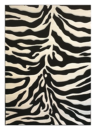 Modern Area Rug Sculpted Zebra Print 8 Ft. X 10 Ft. 6 in. Design # S245 ()