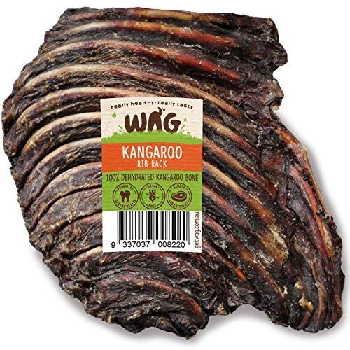 Get WAG Kangaroo Rib Rack 1 Pack, Australian Long Lasting Natural Dog Treat Chew, Perfect Teeth Treat (Best Way To Treat Broken Ribs)