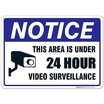 Amazon.com: Señal de vigilancia de vídeo de 24 horas, bajo ...