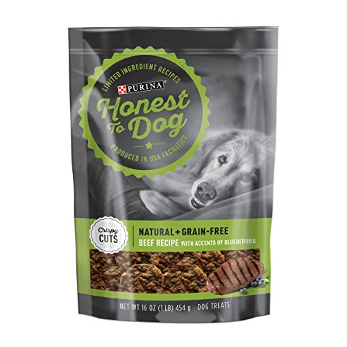 Honest To Dog Crispy Cuts Beef Recipe Accented with Blueberries Dog Treats - 16 oz. ()