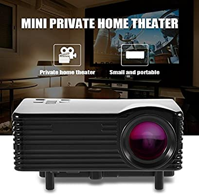 Richer-R Mini LED Proyector Cine en Casa,Proyector de Vídeo ...