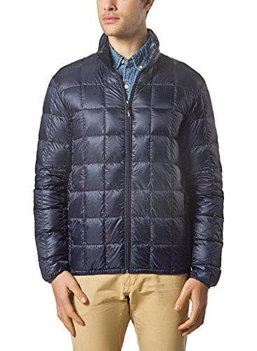 XPOSURZONE Men Packable Down Quilted Puffer Jacket Lightweight Puffer Coat Midnight Navy S