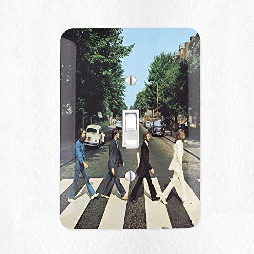 Abbey Plate - The Beatles Abbey Road Light Switch Plate Cover Wall Plate Cover Record Cover Beatles Fan Gift