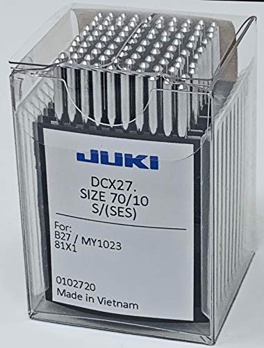 Juki Brand - Serger/Overlock Industrial Sewing Machine Ball Point Needles - Size (10) - (Box of 100 Needles) Juki Genuine Part - for Professional Use.
