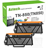 AZTECH 2 Pack 8000 Pages High Yield Black Compatible Toner Cartridge for Brother TN850 TN-850 TN 850 TN-820 TN820 Brother HL-L6200DW HL-L6200DWT HL-L5100DN HL-L5200DW MFCL5900DW Business Laser Printer