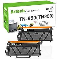 AZTECH 2PK High Yield Black Compatible for Brother TN850 TN-850 TN820 HL-L6200DW MFC-L5900DW Toner Cartridge for Brother HLL6200DW HL-L6200DWT HL-L5100DN MFC-L6700DW MFC-L6800DW L6800DW Toner Printer
